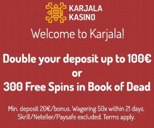 Latest bonus from Karjala Kasino
